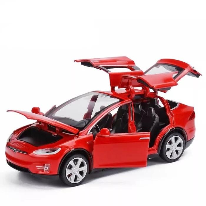 Jual Diecast Car Miniatur Mobil Tesla Model X Skala 1 32 Putih Kota Metro Yokz Project Tokopedia