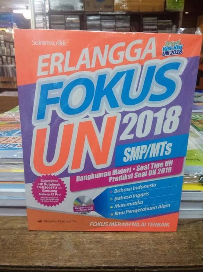 Foto Produk Fokus UN SMP 2018 erlangga sesuai kisi kisi 2018 dari Yenni Tedjokoesoemo Shop
