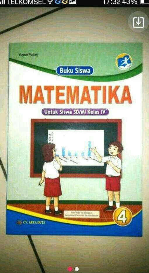 Foto Produk Matematika Kelas 4 SD Kurikulum 2013 (SK Mendikbud 2016) dari Yenni Tedjokoesoemo Shop