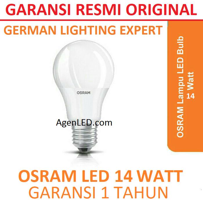 Foto Produk OSRAM Lampu LED 14W Bohlam 14 w watt Putih Bulb 14watt bkan philips 12 dari AgenLED