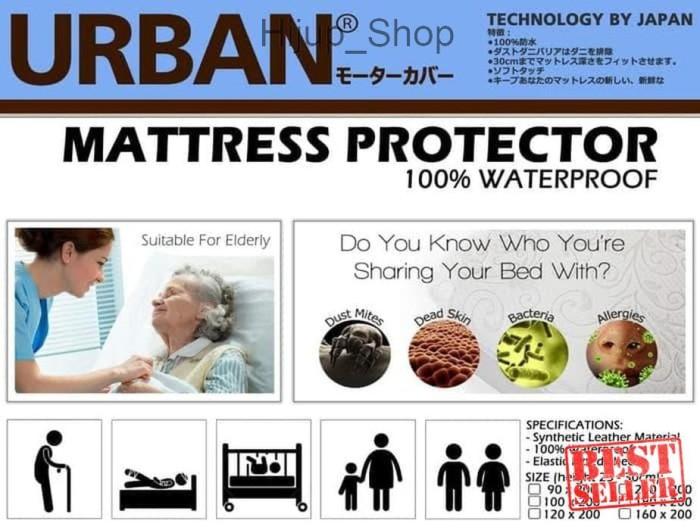 Foto Produk Bed Cover Protector Urban Seprei Waterproof King Size 180x200 Velve dari hijup_