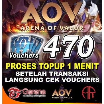 Jual  :: AOV Garena 470 Voucher::
