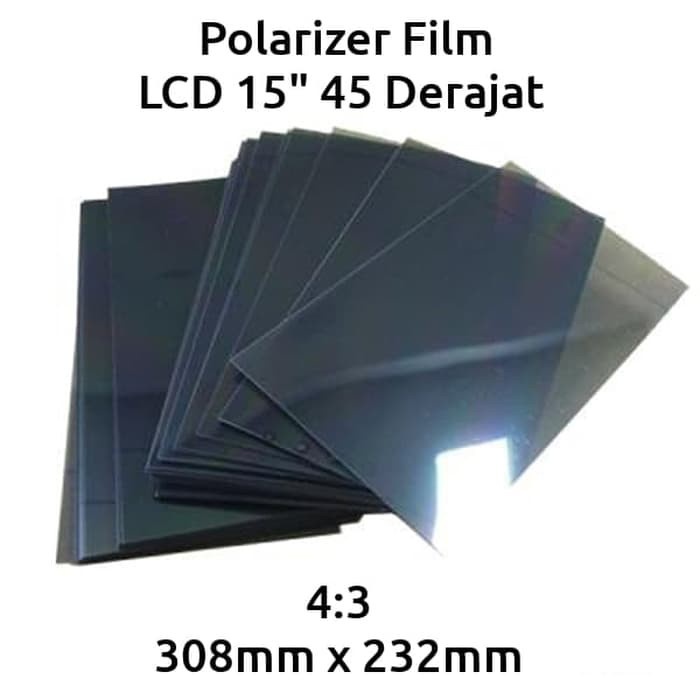 harga Plastik polarizer polarized film led lcd monitor tv 15 inch 45 derajat Tokopedia.com