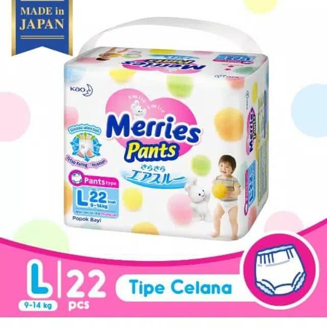 Merries pants premium popok bayi l22 l 22
