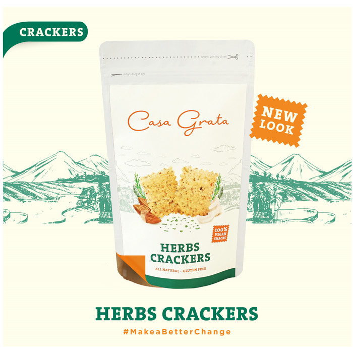 Casa Grata Herbs Crackers
