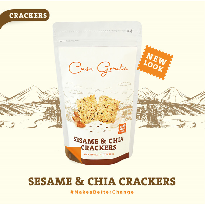 Casa Grata Sesame And Chia Crackers