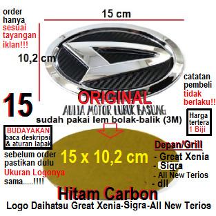 Jual Emblem Logo Grill Depan Daihatsu 15 Xenia Sigra Terios Hitam Carbon Kab Agam Aulia Motor Lubuk Basung Tokopedia