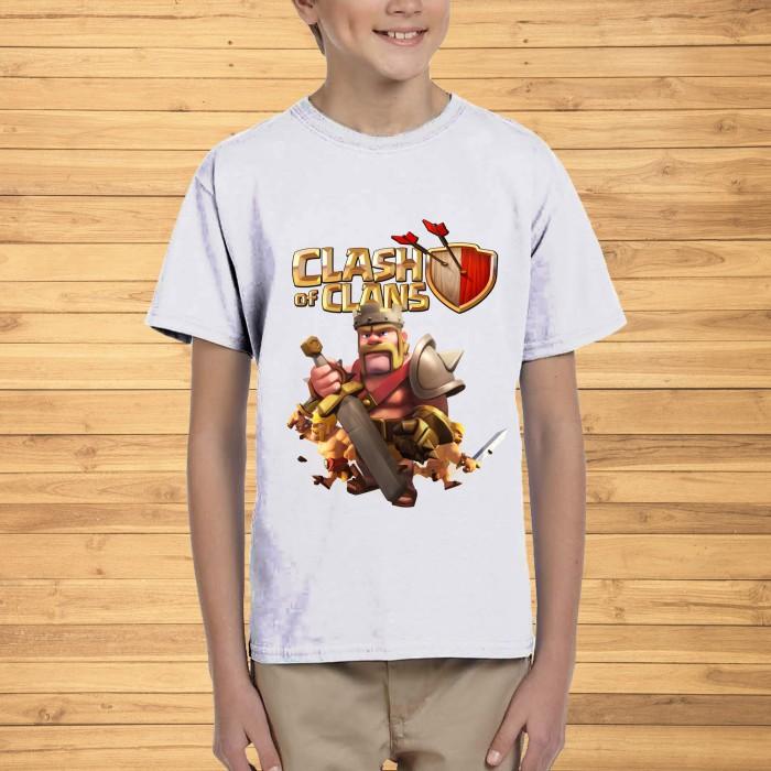 Jual Kaos Anak 6 12 Thn Putih Game Clash Of Clans Coc 3 Free Teks Belakang Jakarta Selatan Inspirasi T Shirt Anak Tokopedia