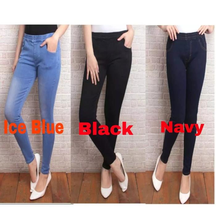 Jual Celana Jeans Wanita Legging Pinggang Karet Bahan Melar Kab Bogor Lalisa Store Tokopedia