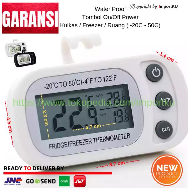 harga Termometer digital kulkas freezer in out tahan air lcd lebar 2019 pth Tokopedia.com
