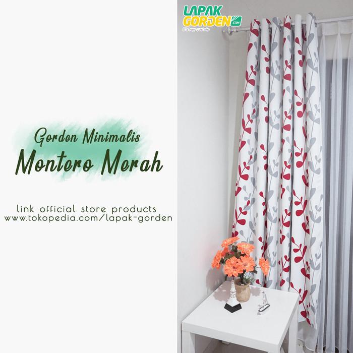 harga Gorden minimalis blazer montero merah Tokopedia.com