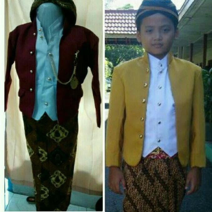 Jual Baju Kostum Karnaval Anak Adat Jawa Tengah Beskap Hewes Promo Jakarta Barat Desi Yusnasari Tokopedia