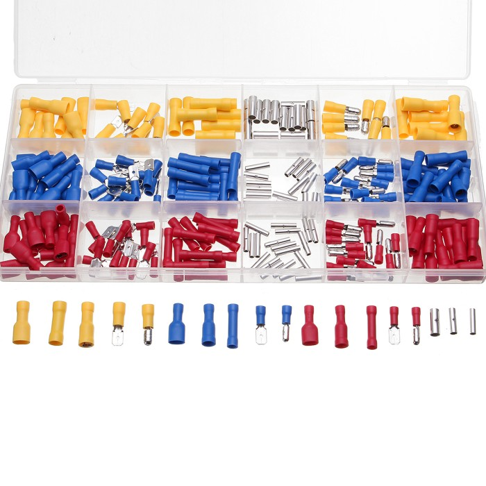 260pcs Insulated Female /& Male Bullet Butt Connector wire Crimp Terminals New