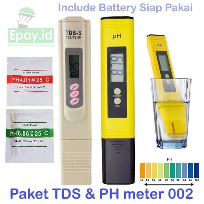 Jual Paket Ph Meter Auto Cal Tds Aquaponik Hidroponik Ekonomis