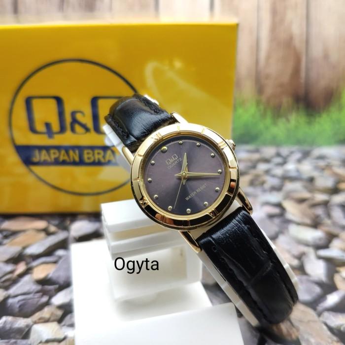 harga Q&q qnq qq analog jam tangan wanita hitam kulit q857 - 102y original Tokopedia.com