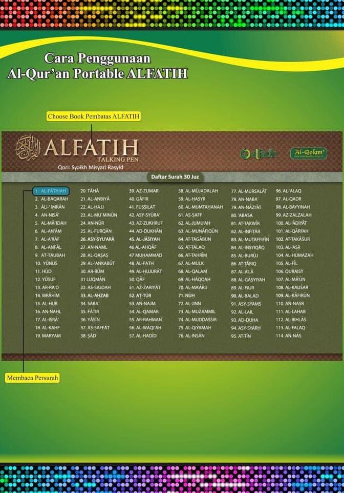 Jual Al Quran Alfatih Talking Pen Alquran Al Fatih Digital Pen Jakarta Selatan Zahair Akalanka Tokopedia
