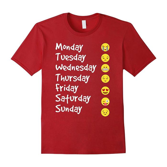 Jual T Shirts Pria Baju Emoji Daily Merah Jakarta Barat