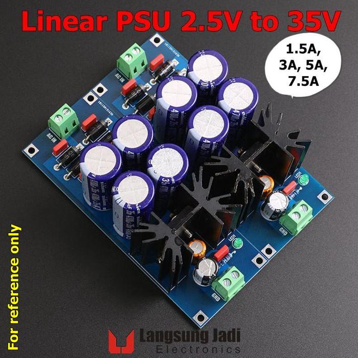 Jual Kit Linear PSU 2 5V-35V 1 5A-7 5A Power Supply 5V 12V 15V 24V LT1083 -  Kab  Bogor - Langsung Jadi Elc  | Tokopedia