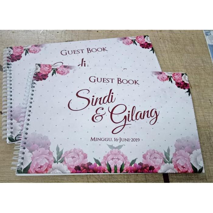 Jual Buku Tamu Pernikahan Custom Desain Wedding Guest Book 17 Kota Depok Fun Store Depok Tokopedia