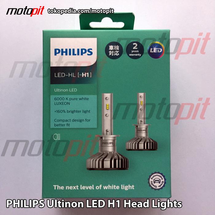 Jual Philips Ultinon Led Lampu Utama H1 6000k Putih Terang Jakarta Barat Motopit Tokopedia