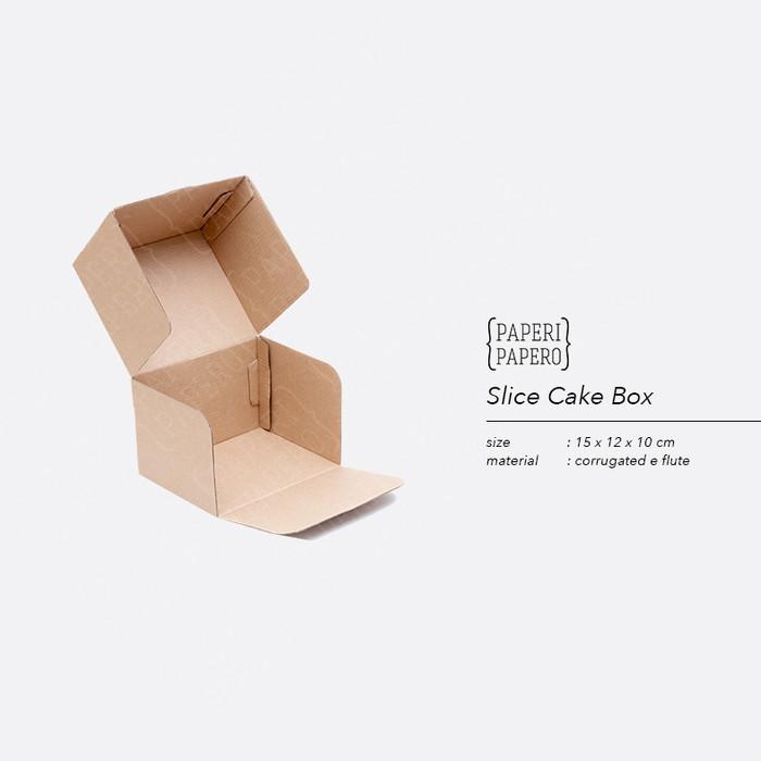 Foto Produk Slice Cake Box - Kotak Snack Kue Cemilan (15 x 12 x 10 cm ) dari {Paperi Papero}