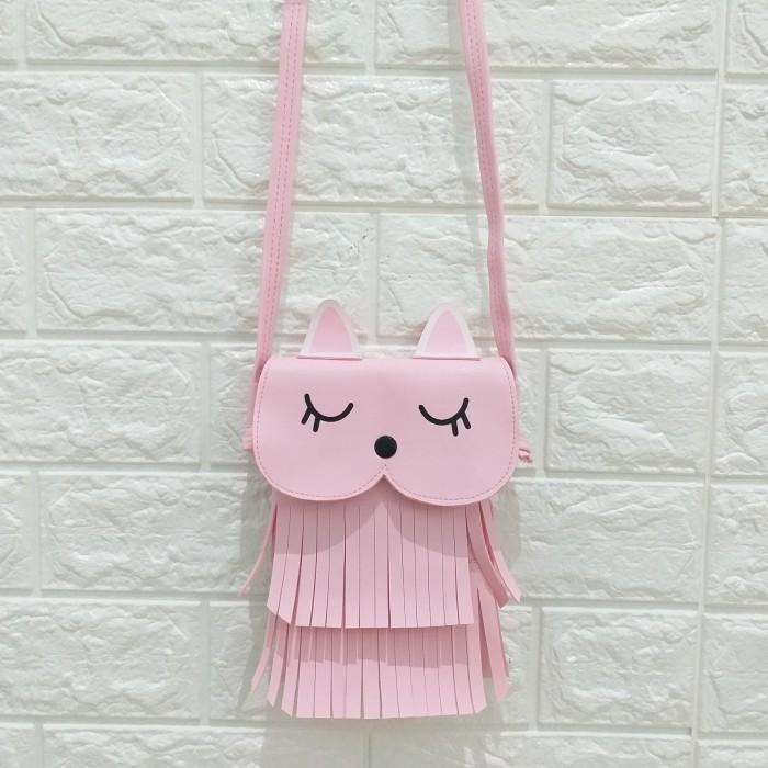 Foto Produk FUKORO SLING PHONE BURUNG HANTU OWL SLING BAG LUCU TAS RUMBAI CEWEK dari Marie Shop