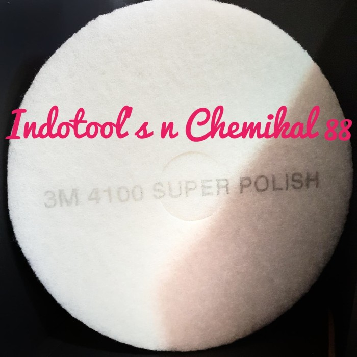 3M White Super Polish Pads 4100 5 Pack 19 inch Diameter NIB