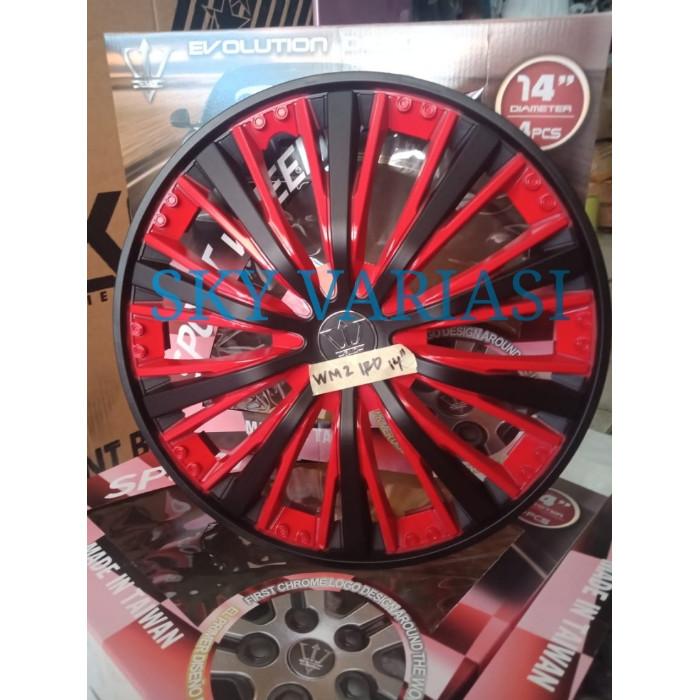 harga Dop velg mobil ukuran ring 14  hitam merah Tokopedia.com