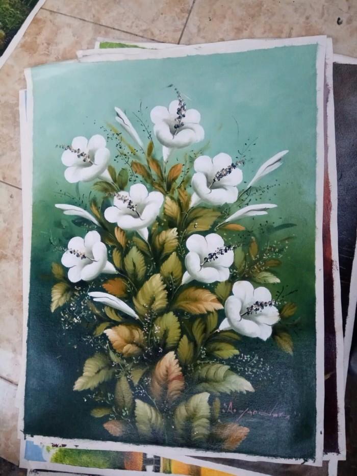 Jual Lukisan Dekorasi Dinding Tanaman Bunga Kembang Sepatu Putih Lk 1385 Kab Gianyar Amanda0903 Tokopedia
