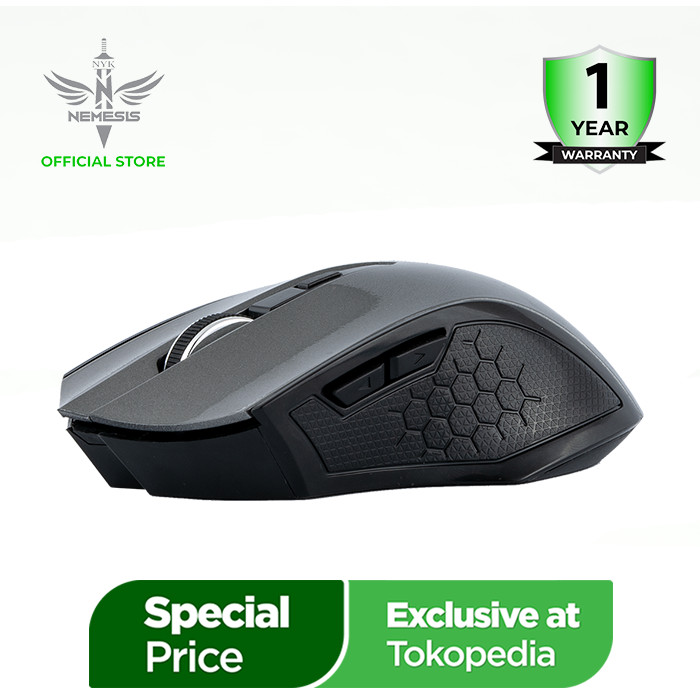 Foto Produk NYK Nemesis Mouse Gaming Wireless Scorpio - Merah dari NYK Official Store