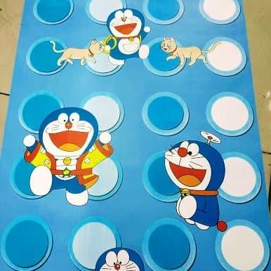 Jual Grosir Murah Wallpaper Sticker Dinding Warna Biru Polkadot