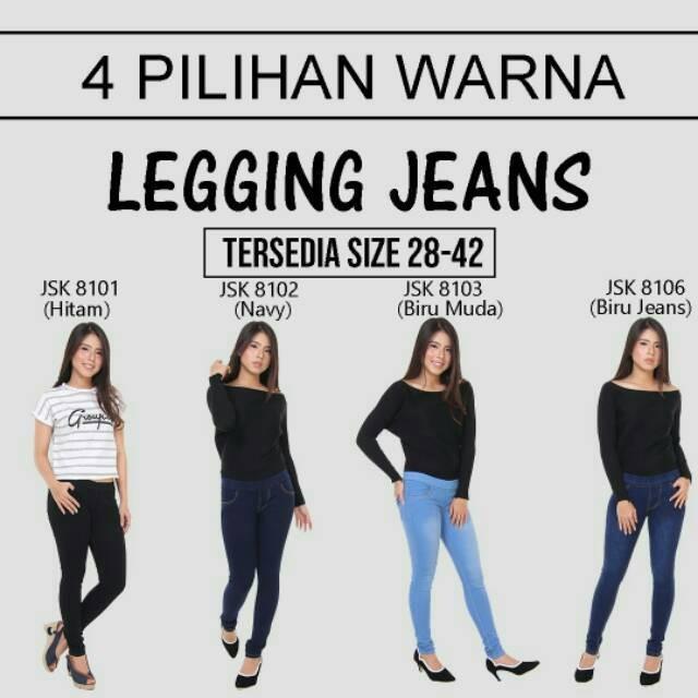 Jual Bisa Cod Celana Legging Jeans Pinggang Karet Bigsize Jumbo Wanita Jakarta Timur Daksayinizahra Tokopedia