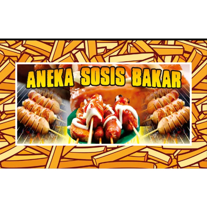 Contoh Spanduk: Jual Spanduk Banner Sosis Bakar 150cmx70cm Color Full
