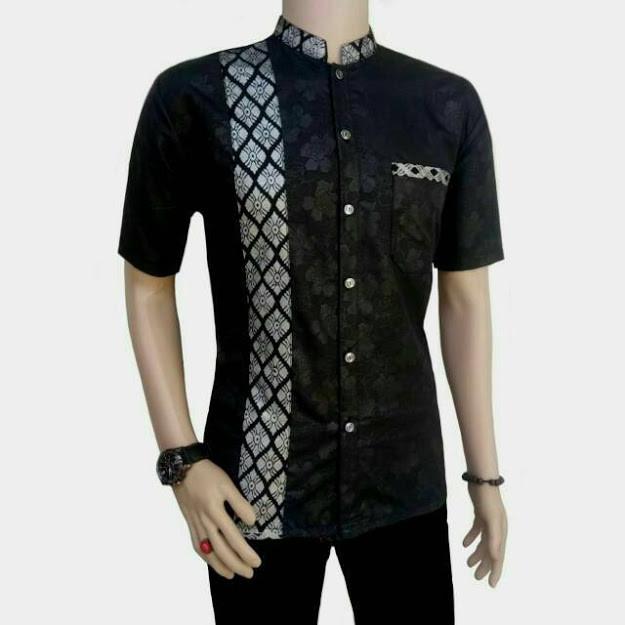 Jual Baju Batik Kemeja Batik Pria Lengan Pendek Model Batik Kombinasi Hitam M Kota Semarang Gaputra Tokopedia