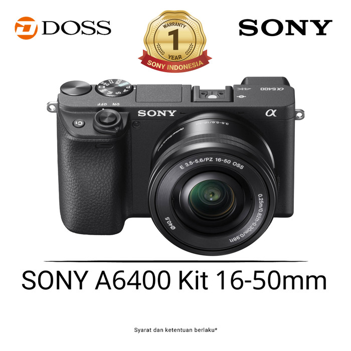 Sony alpha a6400 mirrorless kit 16-50mm / kamera sony a6400 - silver