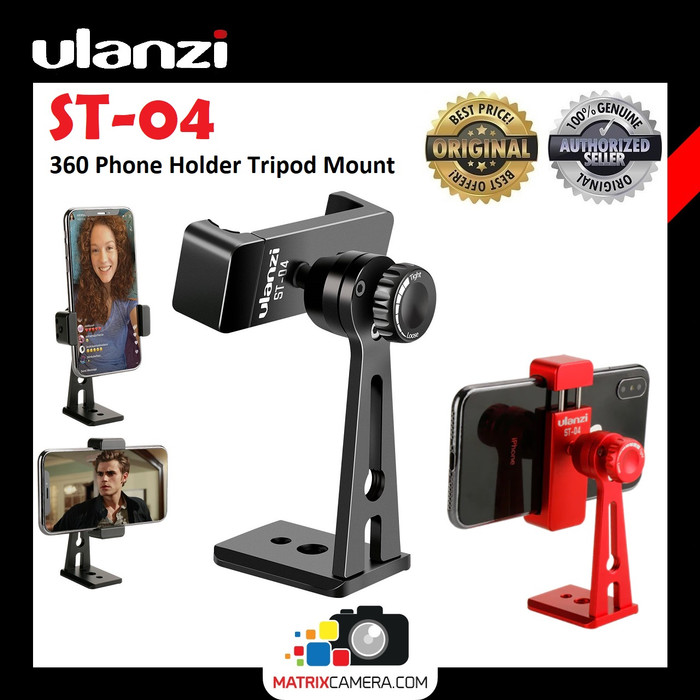 Foto Produk Ulanzi ST-04 360 Smartphone Phone Holder HP Vlog Stand Tripod Mount - Hitam dari MatrixCamera