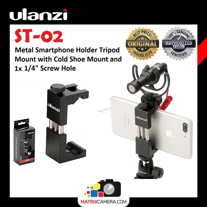 Foto Produk Ulanzi ST-02 Smartphone Phone Holder HP Vlog Tripod Mount dari MatrixCamera