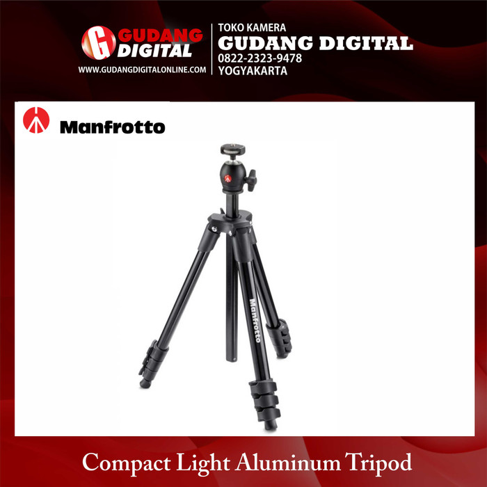 Manfrotto Compact Light Black tre gamba treppiede