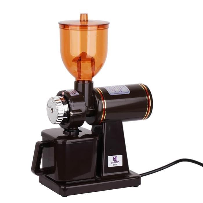 harga Original latina 600n coffee grinder gilingan kopi bonus 1kg arabika - hitam Tokopedia.com