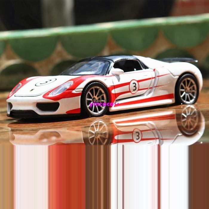 Foto Produk Massal Jiaye Toy Model Porsche Martini Model Simulasi Paduan Tarik Mob dari Random Shop N