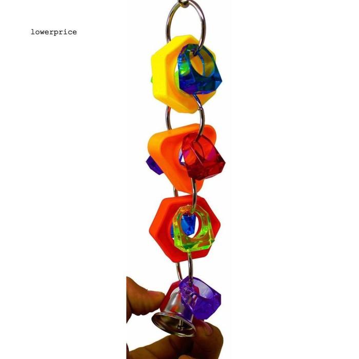 Jual Lp Colorful Funny Ring Bell Parrot Bite Play Bird Hanging Cage Pet Cli Jakarta Barat Random Shop T Tokopedia