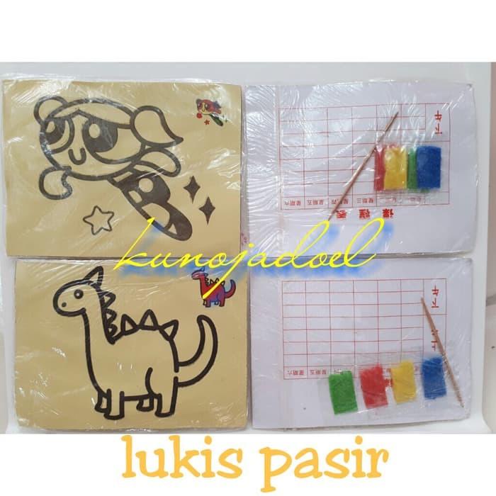 Jual lukis pasir belajar mewarna dan meningkatkan kreativitas anak - DKI  Jakarta - Fitme Stuff   Tokopedia