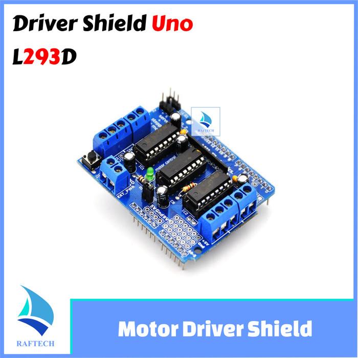 Foto Produk Motor Driver Shield L293D For Arduino Compatible L 293d Arduino uno dari RAFTECH