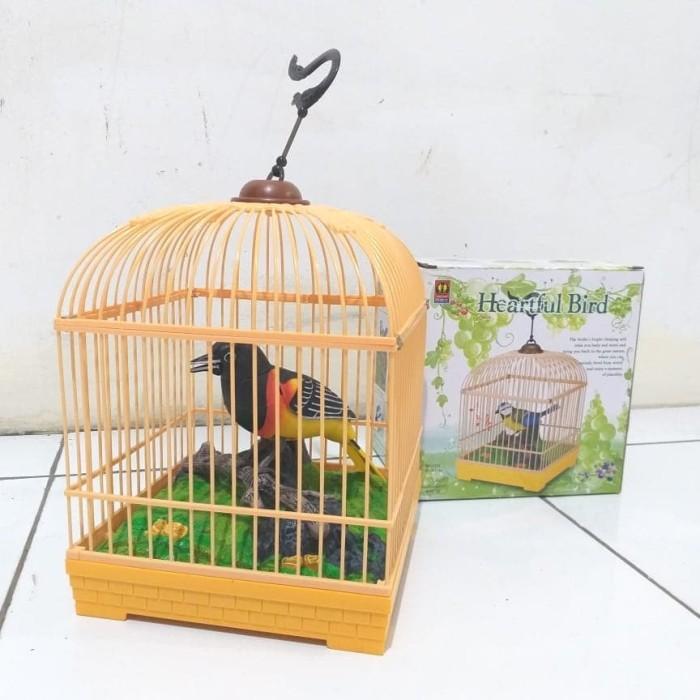 harga Mainan burung bernyanyi dalam sangkar besar Tokopedia.com