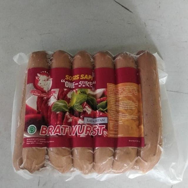 harga One suke sosis bakar 14cm 1kg 12pcs - lada hitam Tokopedia.com