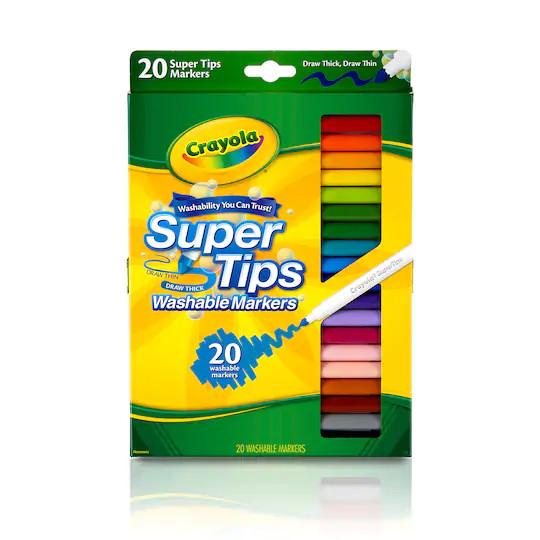 harga Supertips crayola washable marker fine line 20ct Tokopedia.com
