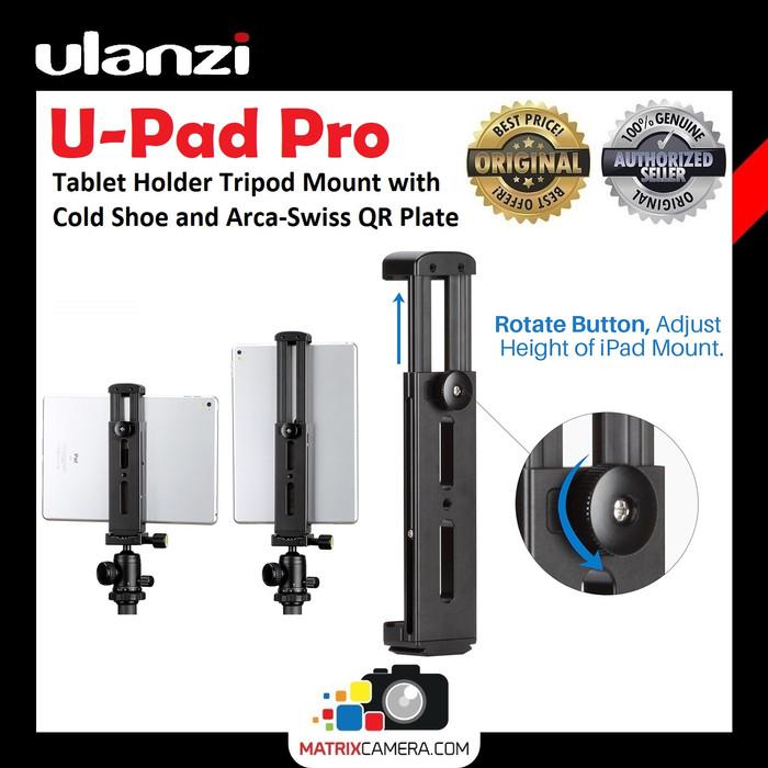 Foto Produk Ulanzi U-Pad Pro Metal Tablet Holder Tripod Mount with Cold Shoe dari MatrixCamera
