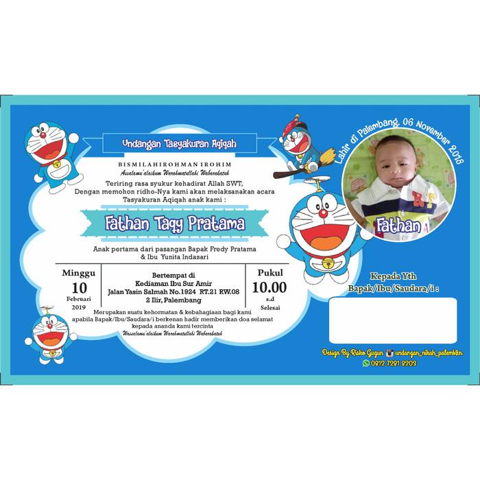 Jual Undangan Aqiqah Doraemon Kota Palembang Galeri Persiapan Nikah Tokopedia
