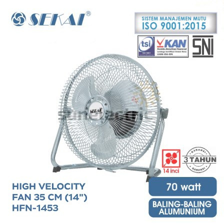 harga 14  (36 cm) high velocity (tornado) fan / kipas angin sekai hfn-1453 c Tokopedia.com