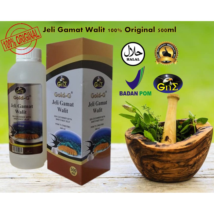 Foto Produk Jeli Gamat Walit 100% Original 500 ml | TOKO SYUKUR HERBAL dari Syukur Herbal